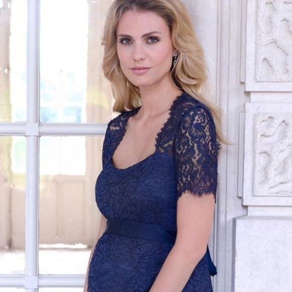90ceda4c0022b Seraphine Dresses | Navy Blue Cut Out Lace Maternity Dress | Poshmark
